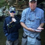 Asheville fly fishing for wild rainbow trout.
