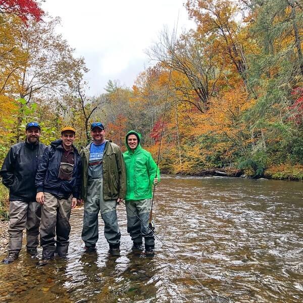 bachelor party fishing trips asheville