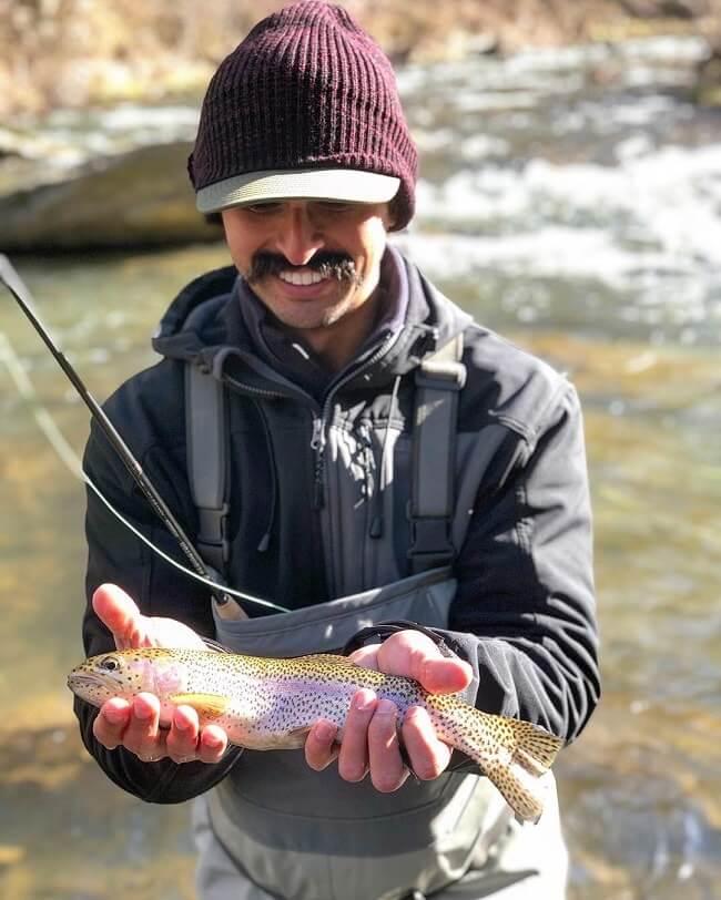 rainbow trout fishing wnc