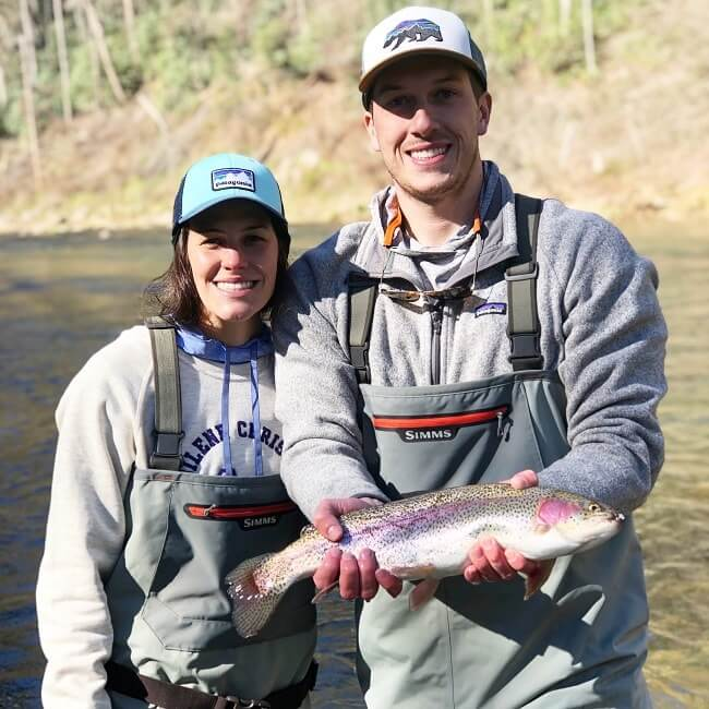 huge rainbow trout March 2019