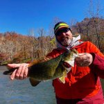 bass fishing the french broad river