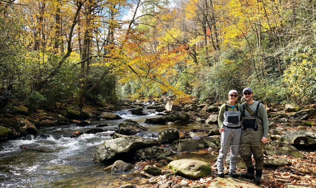 guided fly fishing NC mountains