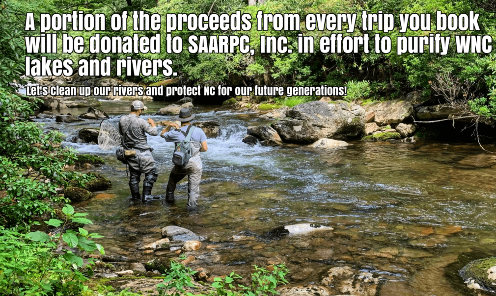 SAARPC donation from asheville fly fishing guide